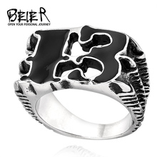 BEIER Claw Luck 13 Ring 316L Stainless Steel Unique product For Man High Quality Jewelry For Man BR8-240(China)