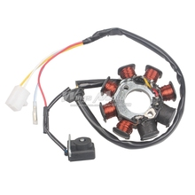 Ignition Stator Magneto 8 Coil 4 Wires GY6 50 110 150cc Scooter Moped ATV TAOTAO JCL(China)
