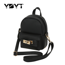 YBYT brand 2017 new mini solid simple and  fashion rucksack high quality women shopping package ladies preppy style backpacks