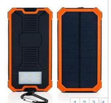 Solar Power Bank 20000mAh External Battery Charger Backup Pack Dual USB LED Light Power Bank For iPhone Pho