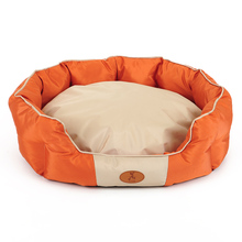 Orange round Oxford pet litter can unpick and wash On VIP air conditioning kennel kennel dogs bed cushion cat litter
