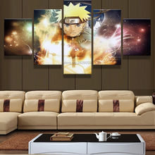 5 Piece Canvas Art Painting Calligraphy Japan Naruto Anime Poster Canvas Prints Home Decor Art Picture No Framed Artworks