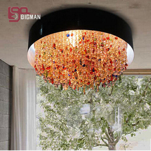 New beautiful design contemporary chandelier crystal lamps for living room lustre de cristal home lighting