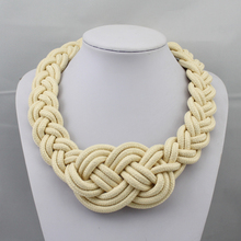 Jewelry  hand-woven Chinese knot decorative pattern necklaces