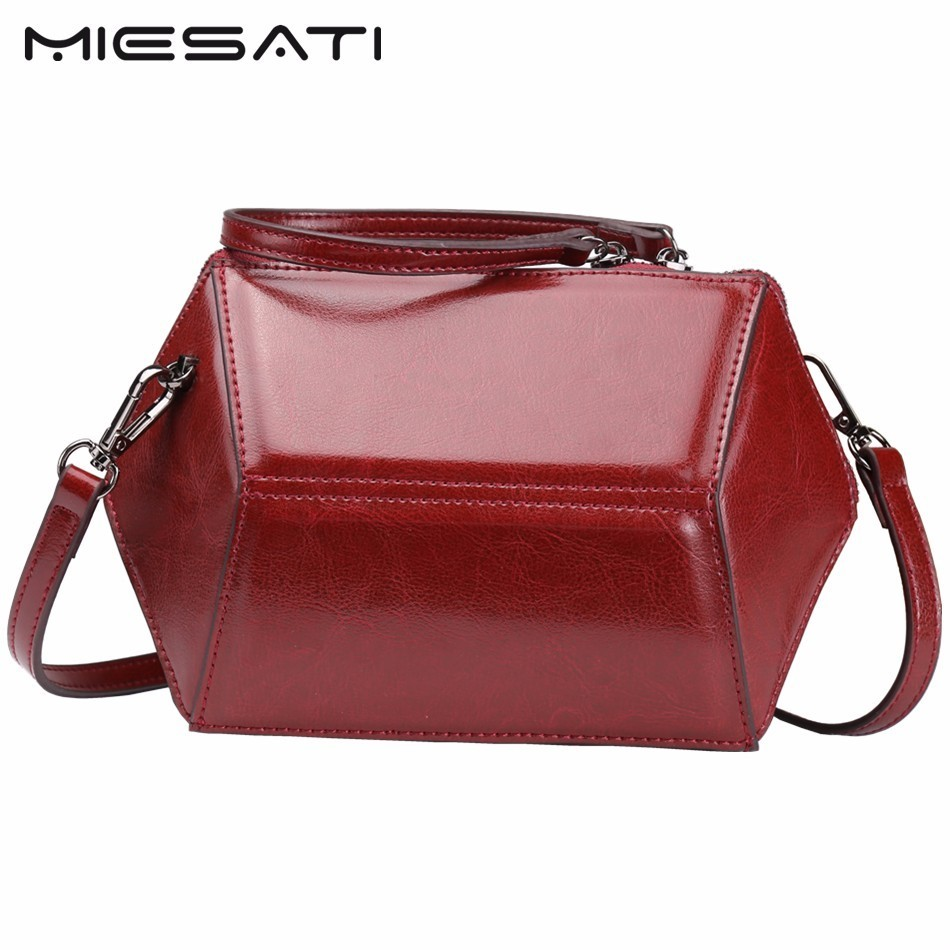 MIESATI New Shoulder Bag Women Bride Clutch Hand Bag Diamond-shaped Shell Crossbody Female Retro Leather Messenger Bags 2017<br>
