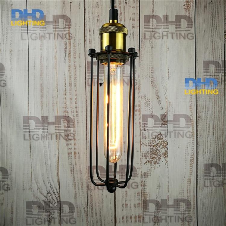 Free shipping metal lamp long cage Copper lamp holder cages vintage pendant light pendant light bulb Antique lamp<br>