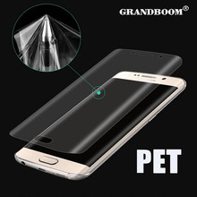 GRANDBOOM 0.2mm Soft PET Full cover coverage screen saver For Samsung Galaxy S8 S7 S6 Edge Plus (not Tempered Glass) 200pcs/lot