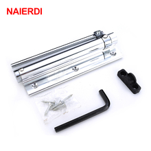 NAIERDI Adjustable 45KG Aluminum Door Closer Light Door Hinge Household With Automatic Door Spring For Fire Rated Door Hardware(China)