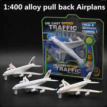 1:400 alloy pull back Airplans,high simulation Airbus A380 model,metal casting,toy Airplans,musical & flashing,free shipping