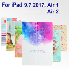 For iPad Air 1 Air 2 case Book style PU Leather Protective Skin for iPad 9.7 2017 Cover Wake up/Sleep Tablets Accessories(China)