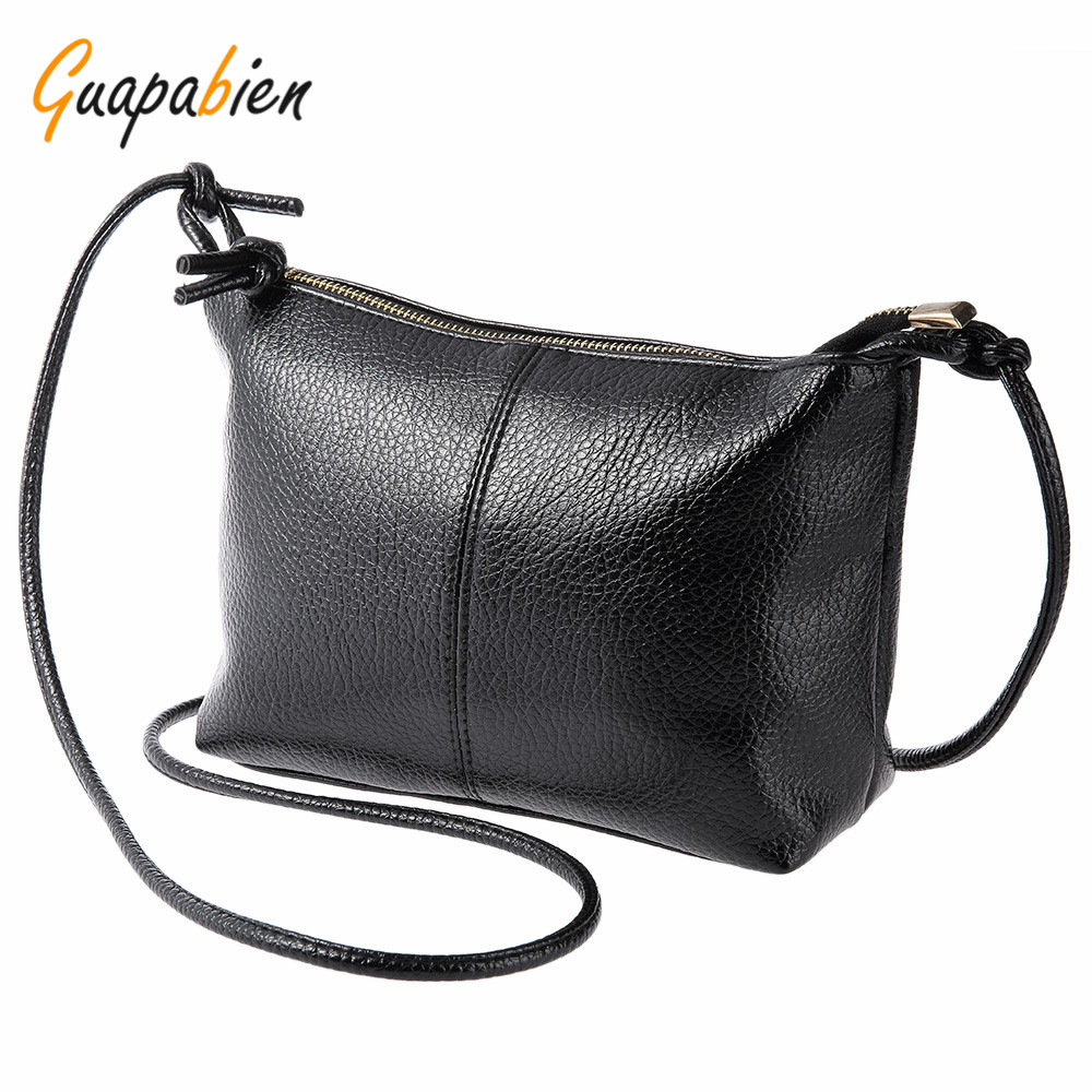 Guapabien Vintage Girl Soft PU Leather Bag Solid Color Zipper DIY Laceup Multi Functional Shoulder Cross Body Bag for Ladies<br><br>Aliexpress