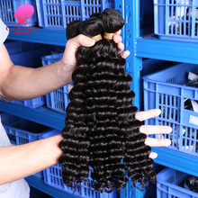 brazilian hair deep wave,brazilian deep wave curly human hair,curly weave remy human hair 3 4 bundles,curly hair extensions(China)