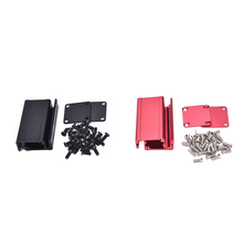 1PCS Extruded Aluminum Box Black Red Enclosure Electronic Project Case for PCB 2 Colors 50x25x25mm