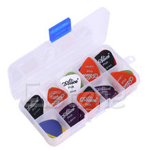 Guitar Accessories 24pcs Acoustic Electric Guitar Picks Plectrums w/ Pick Case Assorted 6 thickness