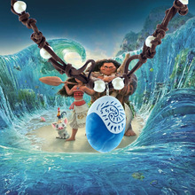 Moana Chain Necklaces Blue Stone Necklaces & Pendants Anime Figures One Piece Figures Model Childhood Edition(China)