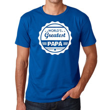 Logo T Shirts Graphic Crew Neck World'S Greatest Papa Short-Sleeve T Shirts For Men(China)