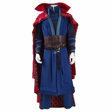 Doctor Strange Costume Dr.Strange Steve Cosplay Costumes Outfit Superhero Battle Suit Blue Red Magic Cloak Full Set Custom Made