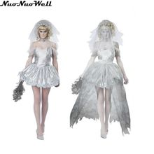 Women Vampire Zombie Dress Decadent Ghost dead Bride Costumes Halloween Wedding Scary Costumes Game Uniforms Role Play Costume