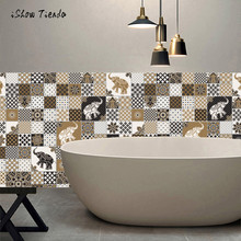 1 Roll Self Adhesive Tile Art Wall Decal Sticker DIY Kitchen Bathroom Decor Vinyl European Style Wall Floor Desk Stickers(China)