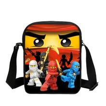 VEEVANV Kids Cartoon Pattern Mini Shoulder Bag Lego Ninjago Prints Messager Bag Boys Girls Small Crossbody Bags Sling Bag