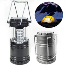 Outdoor Camping Lights 30Leds Led Portable Lantern Tent Lighting Waterproof Camping Lantern High Bright 3pcs AA Battery Led Bulb(China)