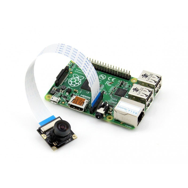 Raspberry Pi Camera Module Supports all Rev. of RPi 5 Megapixel OV5647 Sensor Adjustable Focal Fisheye Lens<br><br>Aliexpress