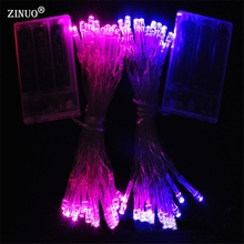 ZINUO 5M 50 LED Battery Operated LED String Lights Fairy String Garland for Xmas Party Wedding Festival Wedding Decoration
