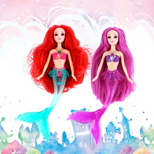 Hot Kids 26cm High Electronic Musical Mermaid Suit Dolls Ariel Dolls Kids Girls Birthday Toys Cartoon Dolls Top Quality(China)