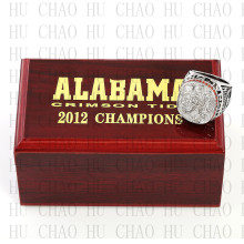 Replica 2012 Alabama Crimson Tide National Championship Ring Football Rings With High Quality Wooden Box Best Gift LUKENI