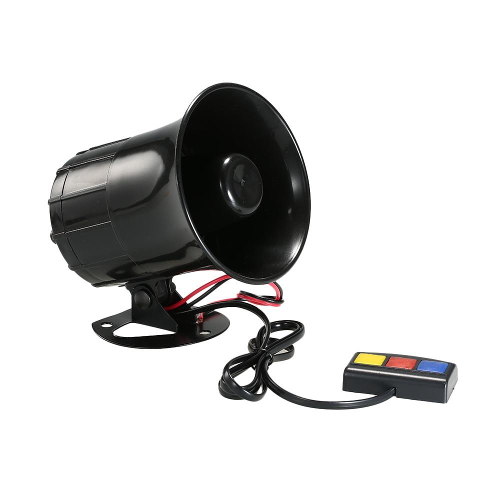 Universal 12V 50W Super Loud 3 Sound Motorbike Alarm Security Warning Siren