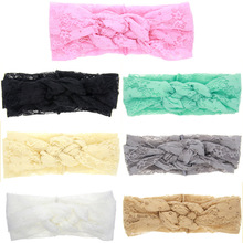 TINSAI Hair Bows 2016 lace Chinese knot rabbit ears bring pictures hair lead girl hair accessories headband