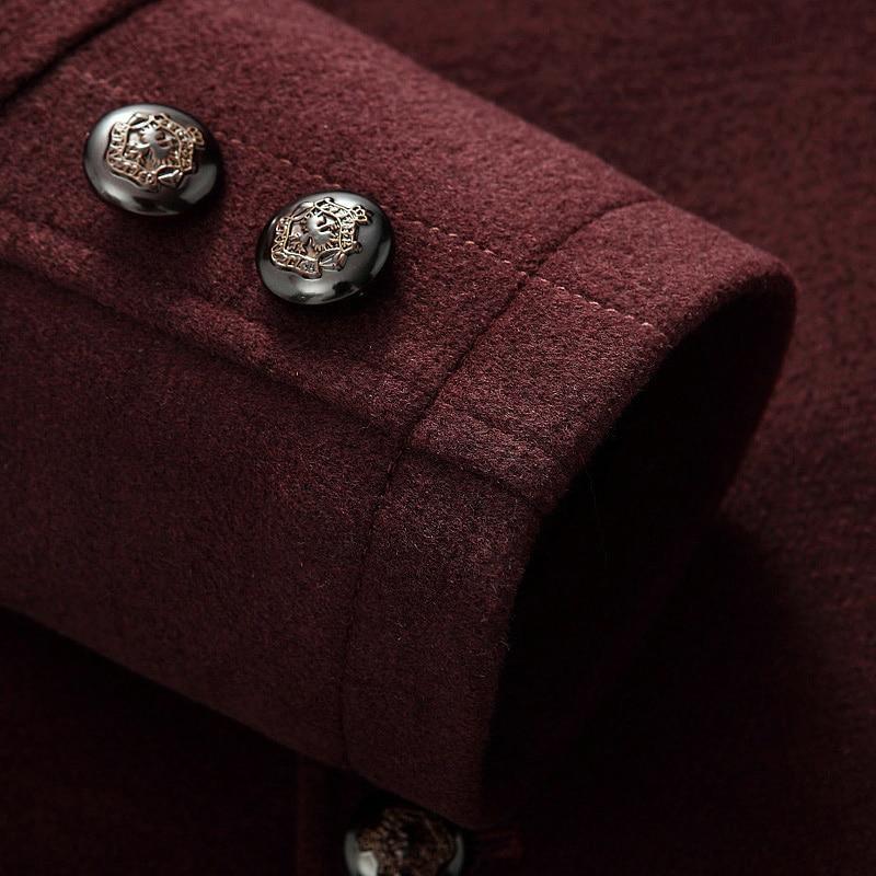 2017 Autumn New Casual Thick Warm Montgomery Cappotto Uomo Medium Long Silk Filler Men Wool Coat