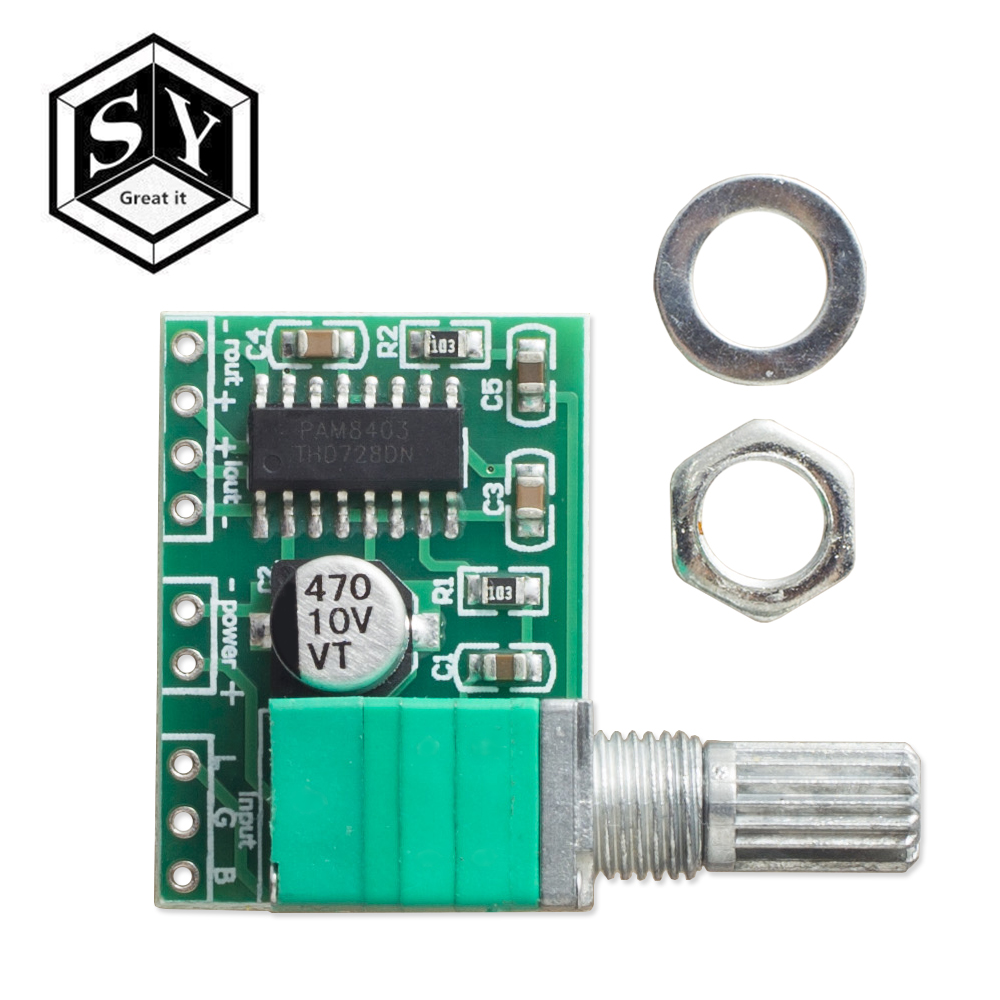 Module pam8403 Digital Amplifier Stereo Audio With Potentiometer