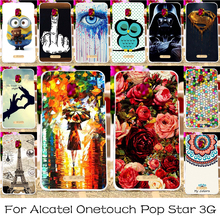 TAOYUNXI 22 Pictures Printing Case For Alcatel OneTouch Pop Star 3G 5022 5.0 Inch OT5022 5022X 5022D Phone Cover Plastic Case
