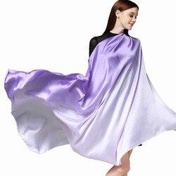 Женский шёлковый шарф, 190x110 см
