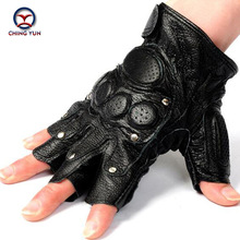 Free shipping!!!tactical gloves male semi-finger protective ride Non-slip leather gloves Fighting gloves Mitts