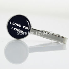 New Elegant Design i love you i know Tie Clips Promotion Geekery Steam punk Tie pin Men's Suits Shirts tie tacks T 417(China)