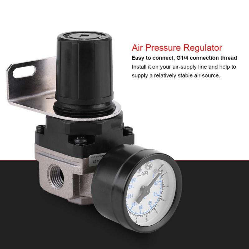 Alupre G1 4 pneumatische Regulator Einstellbare Luftdruck Kompressor Regelventil mit Manometer Bracket