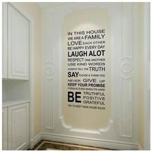 Hot Wall Sticker Humor Filosofia Quote Amore PAROLE Familiari Wall Sticker Amore L'un l'altro Essere Positivo(China)