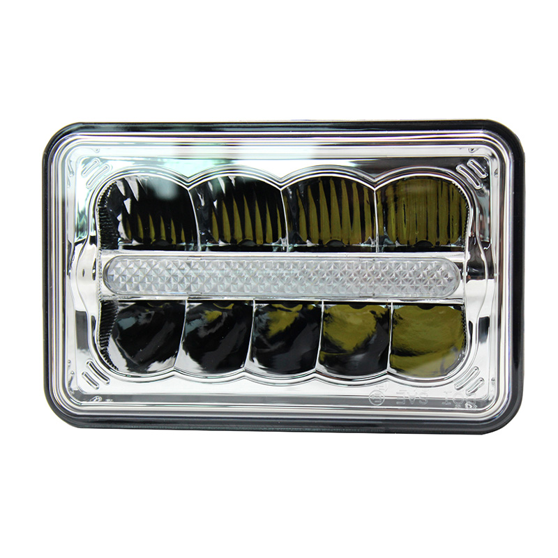 Rectangle Auto Light 4 X 6 Led Headlights High Low Beam H4 Replace HID Xenon Headlamp H4651 H4652 H4666 H6545 Projector Lens <br><br>Aliexpress