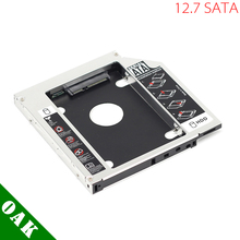 [Free DHL] 12.7mm Aluminum SATA to SATA Second HDD Caddy Enclosure Case for Laptop - 100pcs