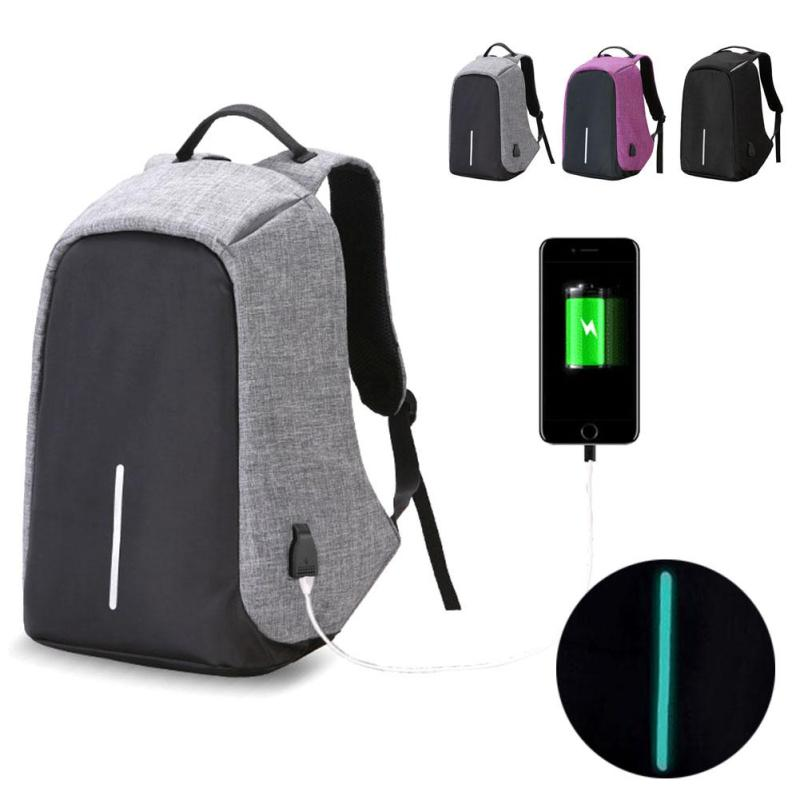 Men Backpack For 15.6 Inch Laptop Backpack Anti-Theft Shoulder Bag USB Capacity Charge Large Charging Package Waterproof Reflect<br>