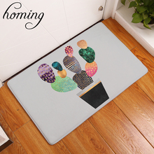 homing in front of door anti slip carpets colorful cactus pattern door mats bathroom absorption mats home decor crafts 40*60cm(China)