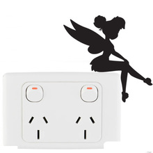 Cartoon Magic Girl Vinyl Decoration Switch Sticker Children Lightswitch Decals 5WS0010