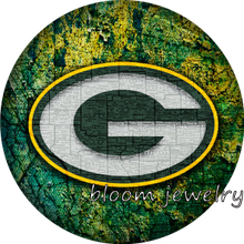 BG50025 Football NFL Green Bay Packers snaps button fit 18mm 20mm snap button jewelry bracelet  Gift  Sports  Good quality