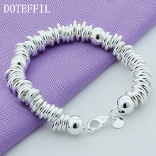 Silver Original Fashion Wild Men And Women Of Prayer Beads Bracelet Silver Plated Bracelet Wholesale Gift(China)