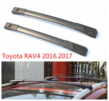 Car Cross Rack Roof Racks For Toyota RAV4 2016.2017 High Quality Brand New Aluminum Screw fixing Auto Luggage Rack(China)
