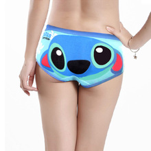 Buy Free Shipping cotton cartoon underwear panty sexy women briefs modal tangas women's panties bragas cueca printed striped cartoon
