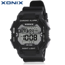 Hot!!!  XONIX Fashion Sports LED Watches Waterproof 100m Men Outdoor Fun Multifunction Digital Watch Swimming Diving Wristwatch