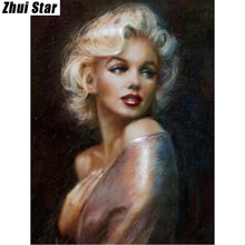 "Buy Full Square Diamond 5D DIY Diamond Painting ""Marilyn Monroe"" Embroidery Cross Stitch Rhinestone Mosaic Painting Decor Gift for $4.18 in AliExpress store"